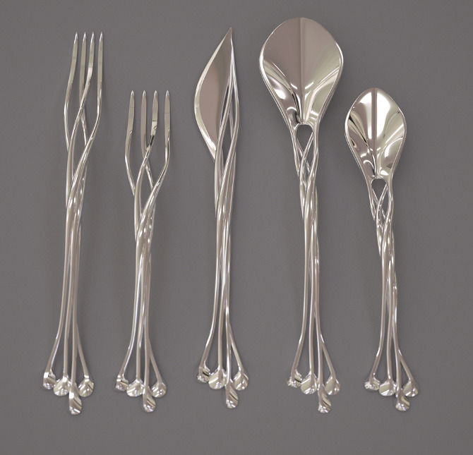 Intricate 3D Printed Flatware