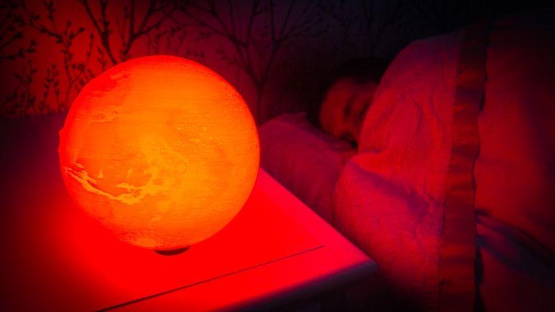 Martian 3D-Printed Lamps