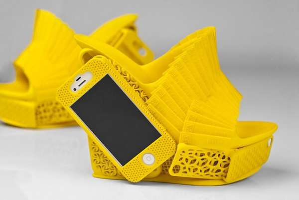 Phone-Integrated Footwear Art