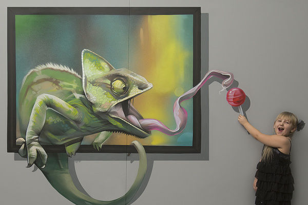3d Wall Art illusively interactive wall art : 3d wall paintings