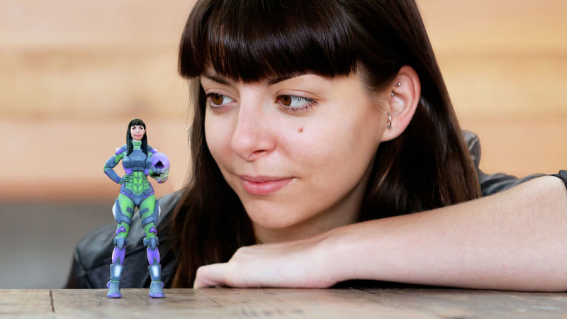 Custom 3D-Printed Action Figures