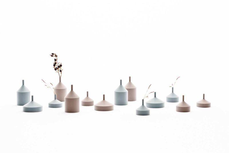 Unfinished 3D-Printed Vases