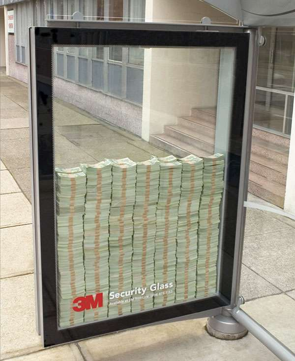 Unbreakable Ad Displays 3m Security Glass Ad