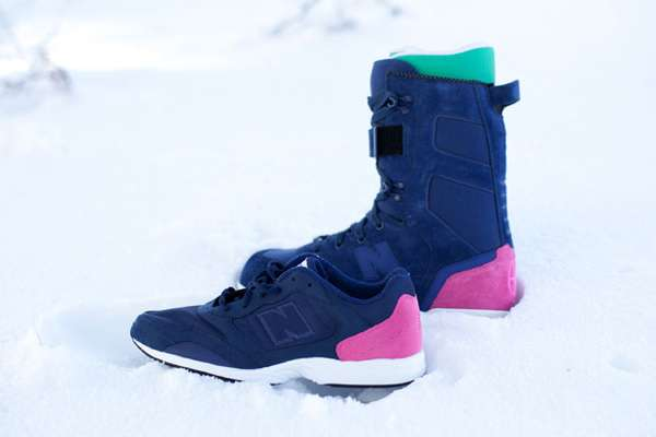 Highlighter-Heeled Snowboard Shoes