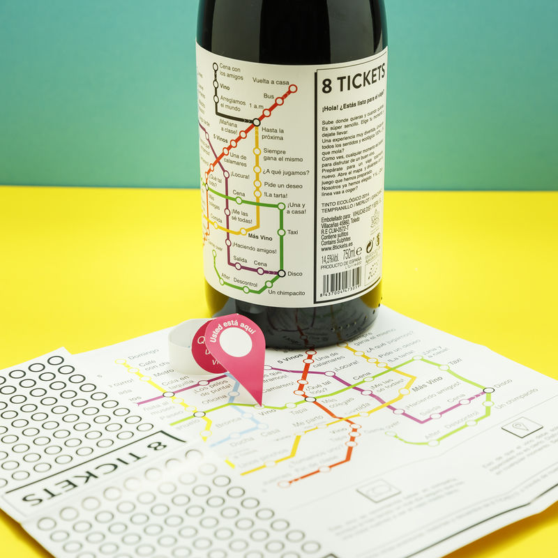 Board Game-Themed Wine Labels