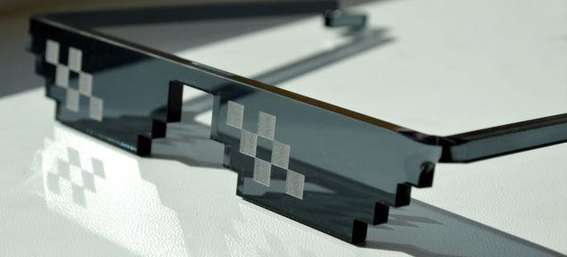 8-Bit Pixelated Sunglasses