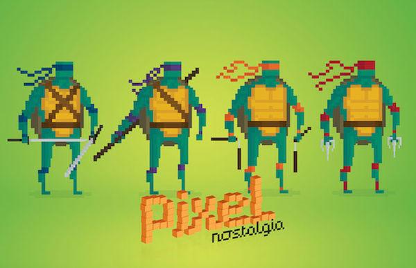 Pixelated 90s Cartoons