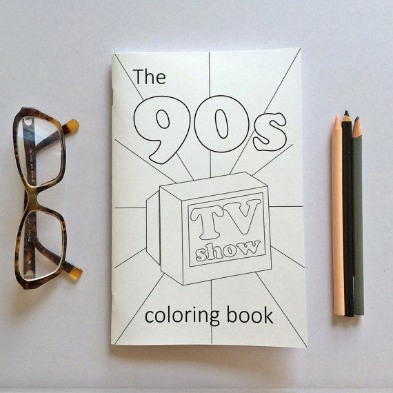 Era Specific Coloring Books 90s Coloring Book