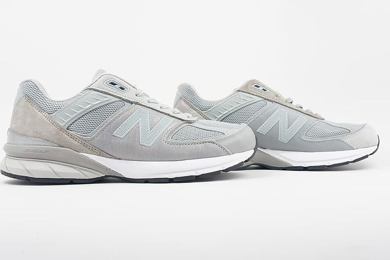 Asymmetrical Leather Sneakers - Engineered Garments and New Balance Drops Three 990v5 Colorways (TrendHunter.com)