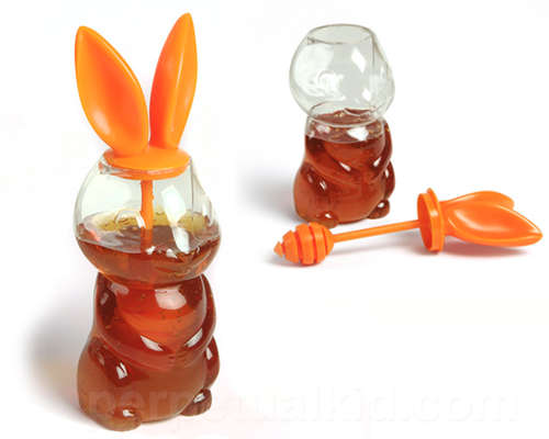 Bunny-Eared Honey Holders