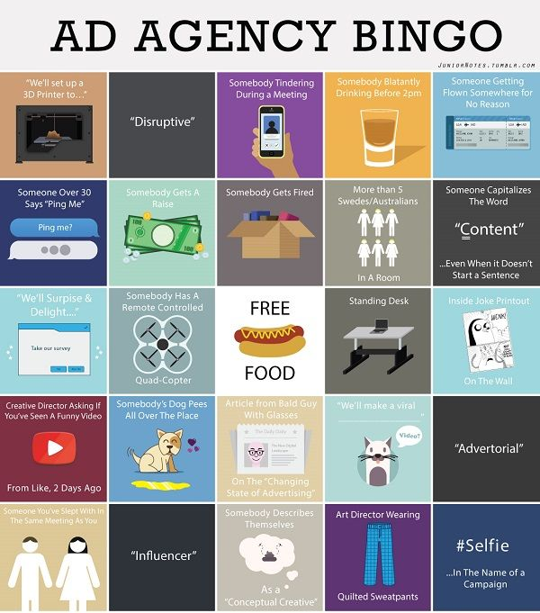 Ad-Inspired Bingo Cards