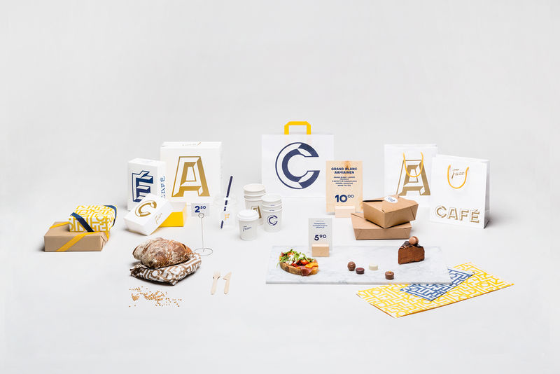 Typographic Bistro Packaging
