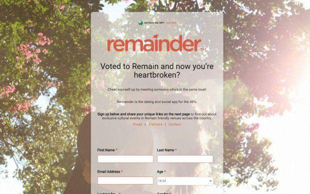Referendum-Based Dating Apps