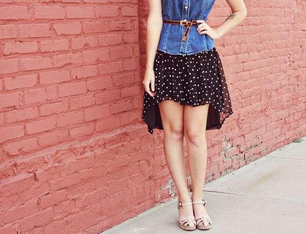 DIY Polka Dot Skirts