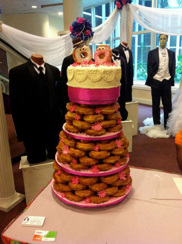 Donut-Made Wedding Cakes