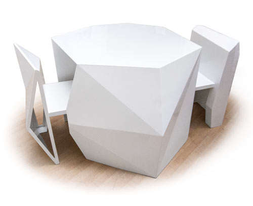 Simplistic Geometrical Dining Sets