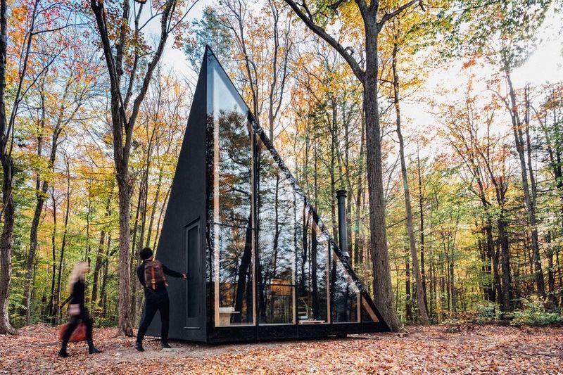Modern a frame cabins a45 house for Modern a frame cabin