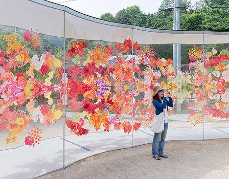 Transparent Floral-Printed Pavilions
