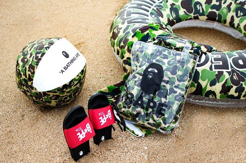 Streetwear-Informed Camo-Print Beach Goods