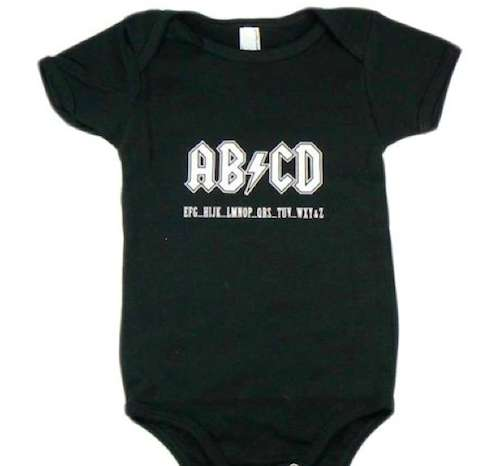 Hard Rock Baby Clothes Abcd Onesie