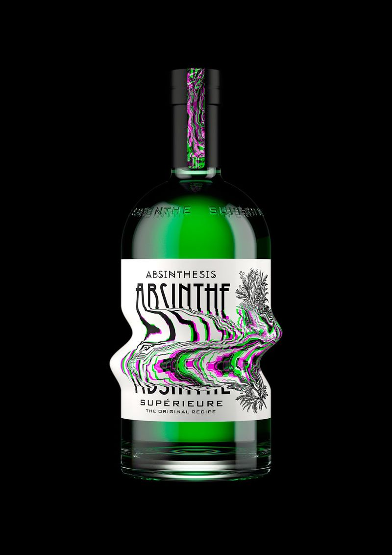 Distorted Absinthe Bottles