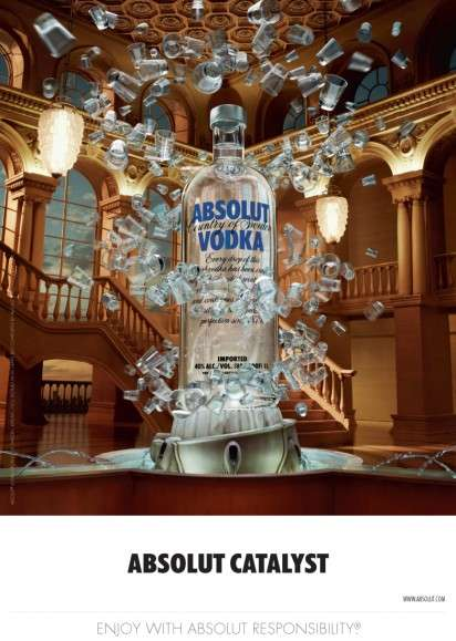 monumental alcohol ads   absolut vodka campaign