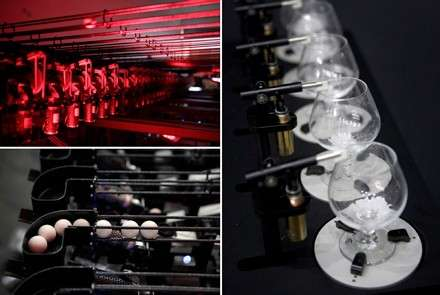 Robotic Music with Ping Pong Balls & Wine Glasses