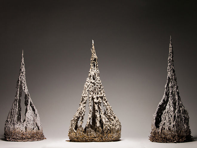 Abstract Clay Sculptures