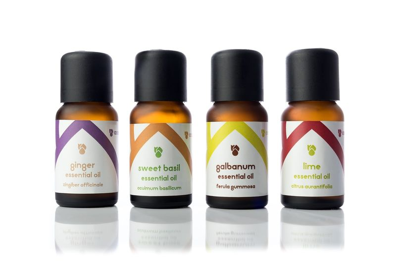 Element-Themed Essential Oil Packaging