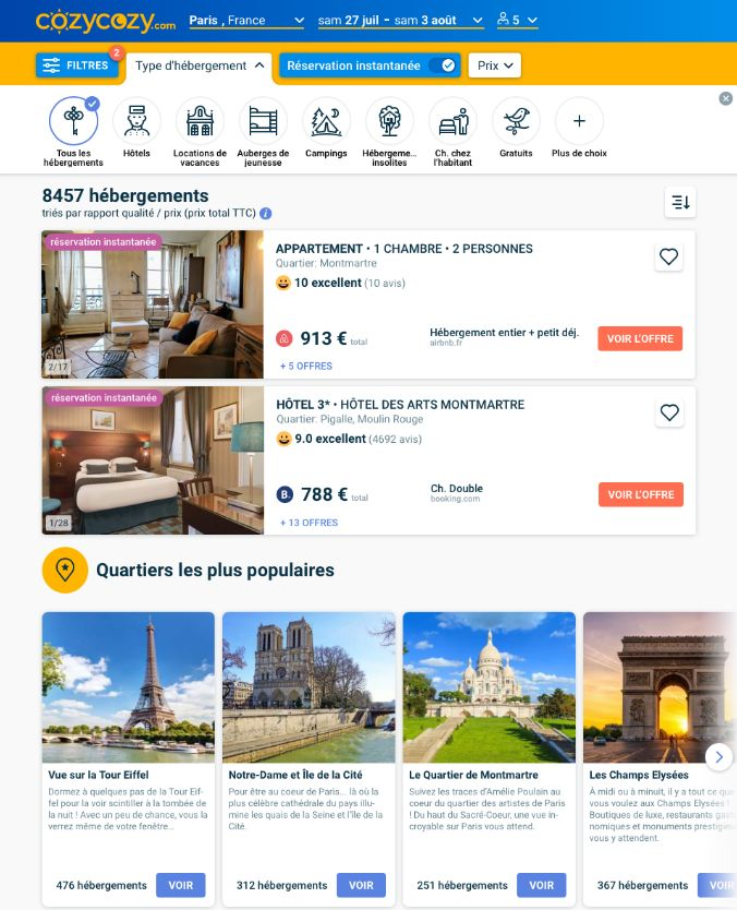 Aggregated Booking Search Services