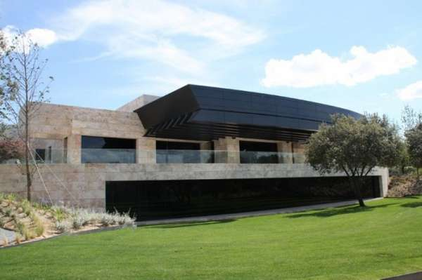 Futuristic Stone Mansions