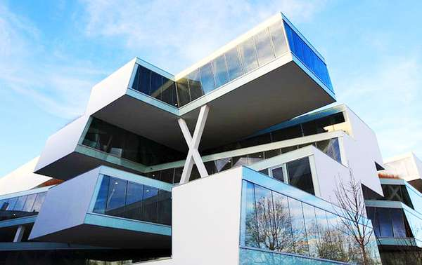 Futuristic Eco Offices Actelion Business Center
