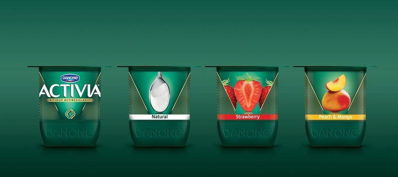 Sleek Probiotic Yogurt Packaging