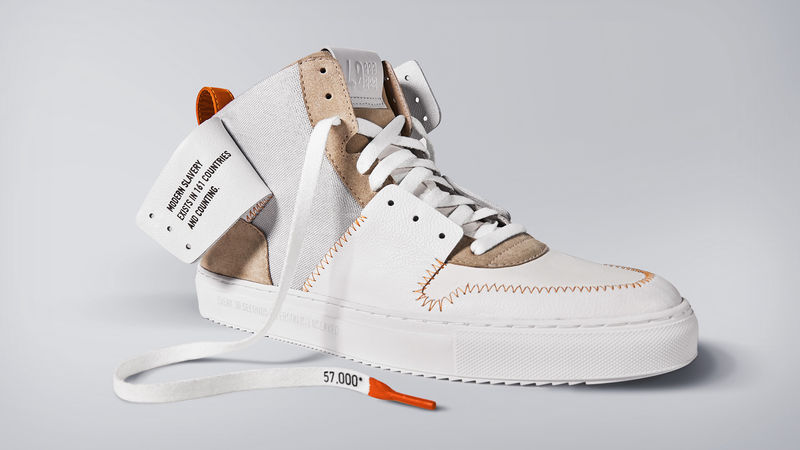 Slavery-Themed Custom Footwear - Design by Disruption & the Shoe Surgeon Produce Activist Sneakers (TrendHunter.com)