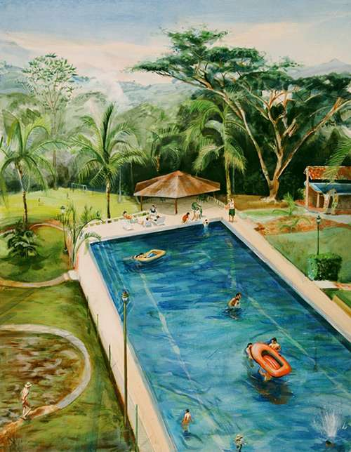 Exotic Family Vacation Paintings