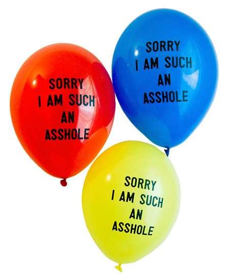 Apologetic Profanity Balloons