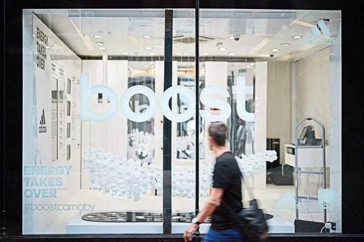 regalo pavo Manuscrito  Dedicated Sneaker Pop-Up Shops : Adidas BOOST Pop-Up
