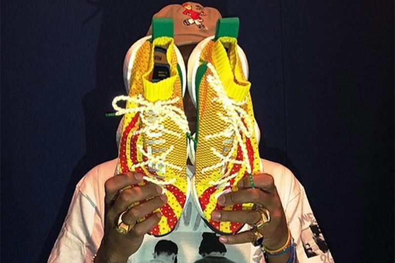 Woven Sunshine-Hued Sneakers