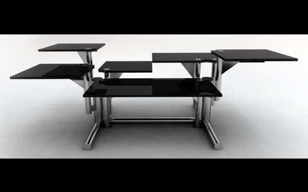 reconfigurable kitchen tables adjustable by riccardo bovo rh trendhunter com adjustable kitchen table height adjustable kitchen table height
