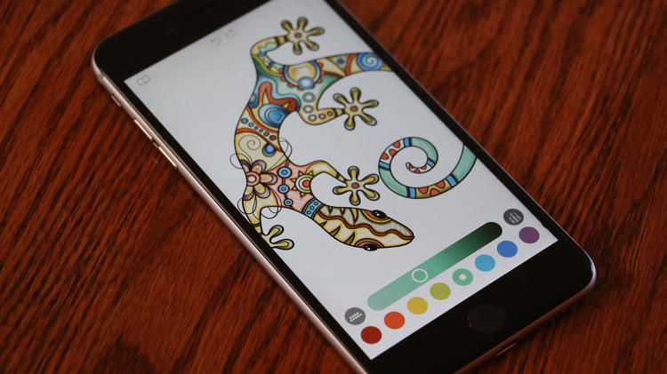 Tablet-Based Coloring Books : Adult Coloring Book App