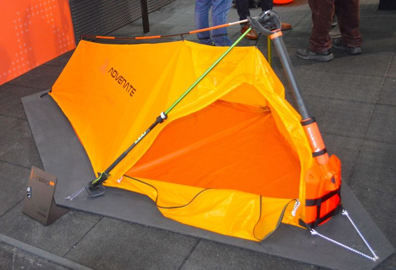 Tent-Packed Shovels