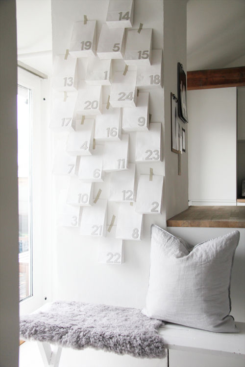 Minimalist Advent Calendar : Minimalist christmas countdowns advent calendar craft