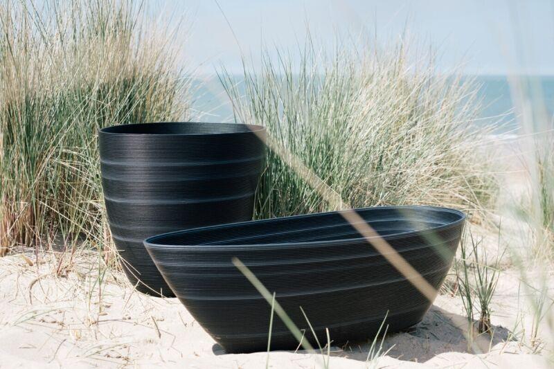 Bivalve-Inspired Planter Pots