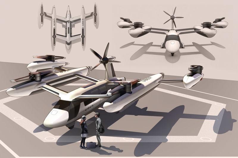 Futuristic Aerial Taxi Services
