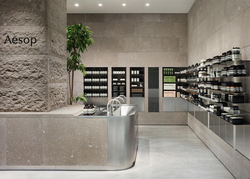 Volcanic Beauty Shop Interiors Aesop Shop