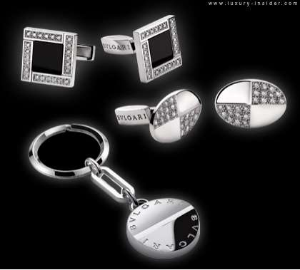 Sparkling Male Accessories Bvlgari Cufflinks And Money Clips