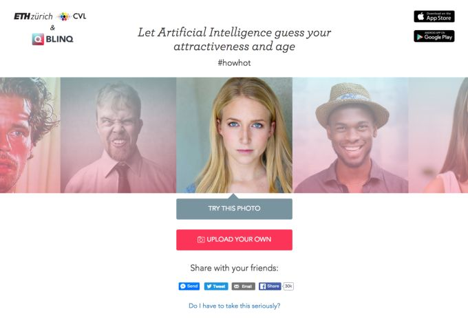 Robotically Judged Dating Platforms