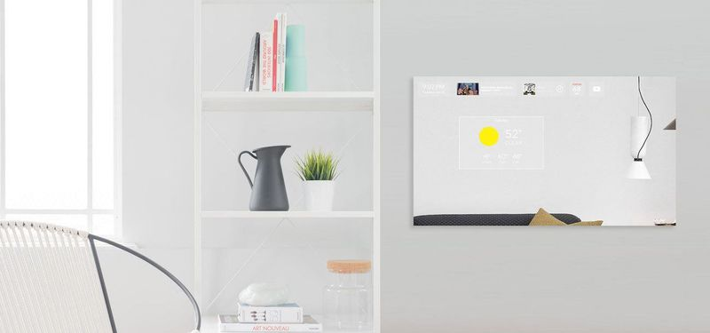 Mirrored Smart Home Displays