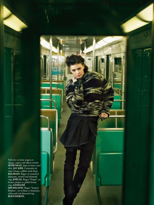 Metallic Subway-Inspired Editorials