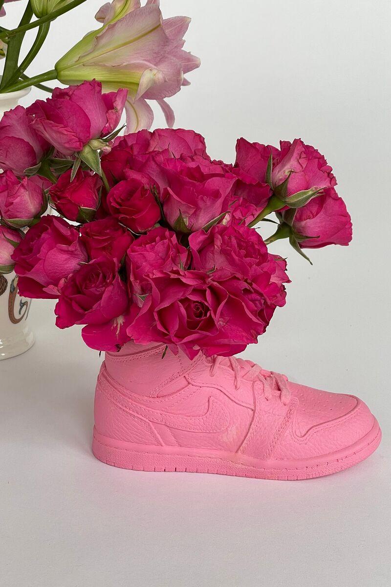 Pink Sneaker-Inspired Vases